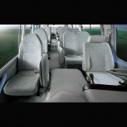 Luxury seats of the Toyota Coaster bus - Globe Motors