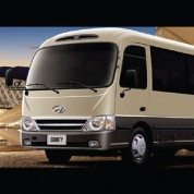 The Hyundai County Bus with AC, available at Globe Motors.