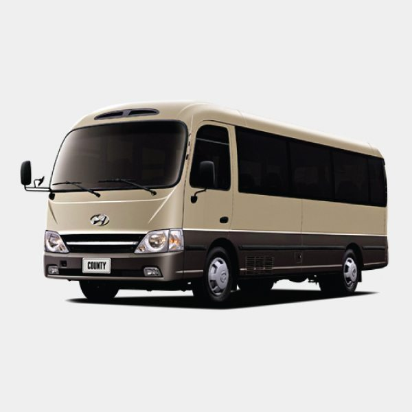 Hyundai County Bus, the Toyota Coaster Bus Rival. Fuel Efficiency and with AC